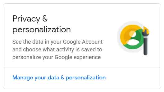 Data & Personalization setting to disable location tracking