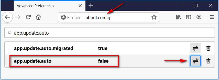 Disable Firefox auto-update
