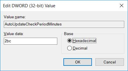 enable chrome auto-update hexadecimal value