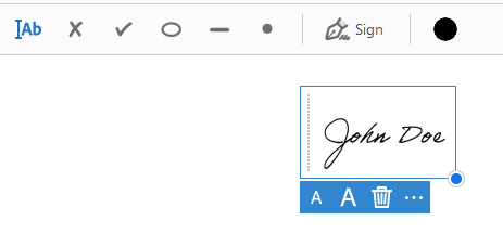 Place the Signature in Adobe Reader