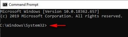 default directory in command prompt