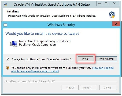 Install VirtualBox Guest Addition to change screen resolution