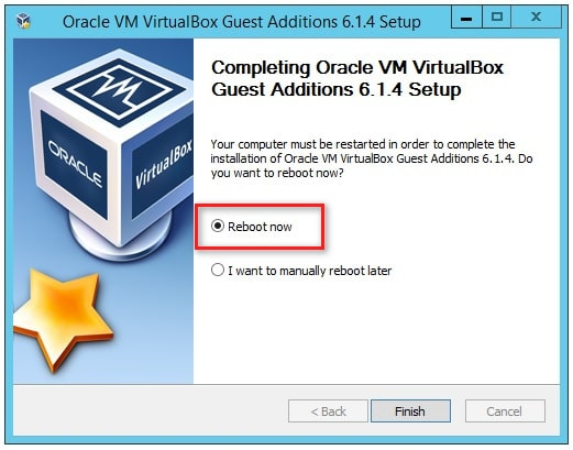 Reboot VirtualBox virtual machine