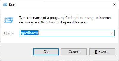 Open Group Policy Editor
