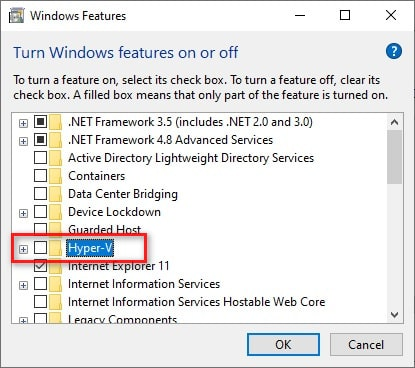Disable Hyper-V on Windows