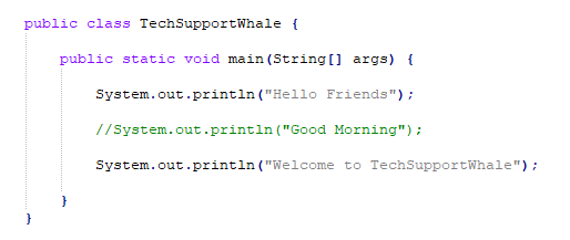 Comment a single line of code