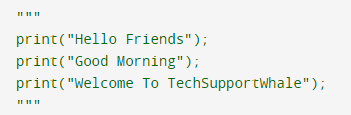 Comment out block of code in Python